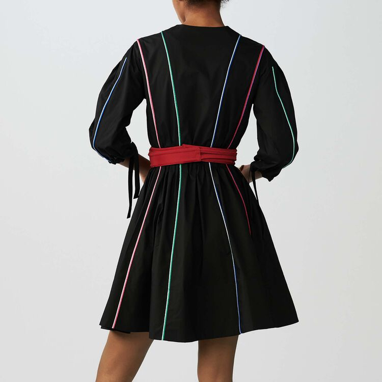 Belted dress : Dresses color Black 210