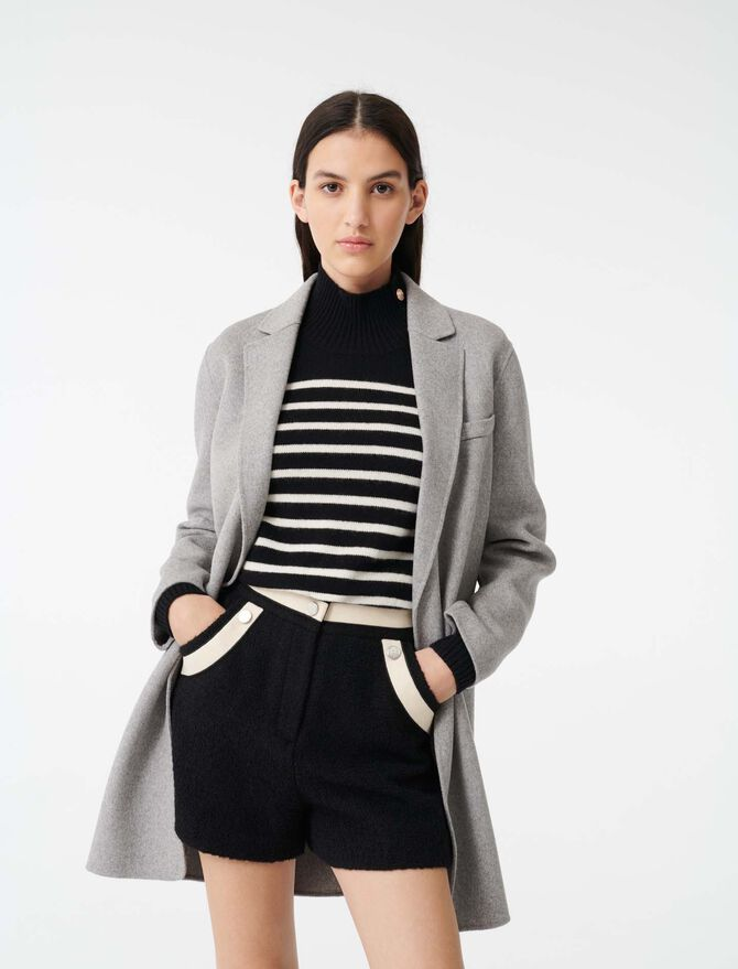 Double face cropped coat - Coats & Jackets - MAJE