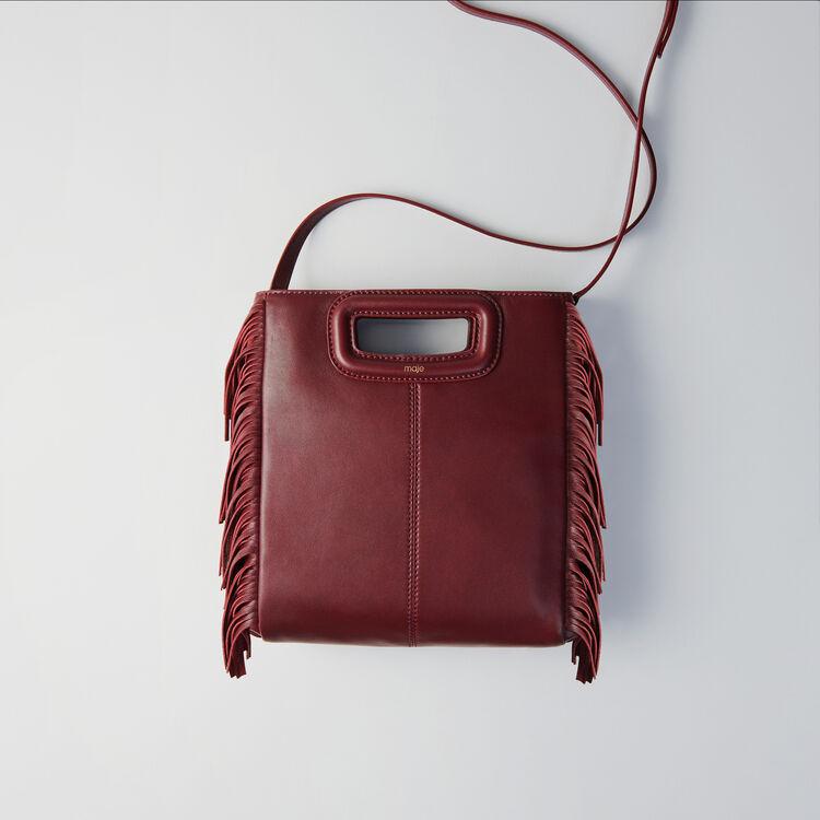 Leather M bag : 70s belong to Women color Burgundy