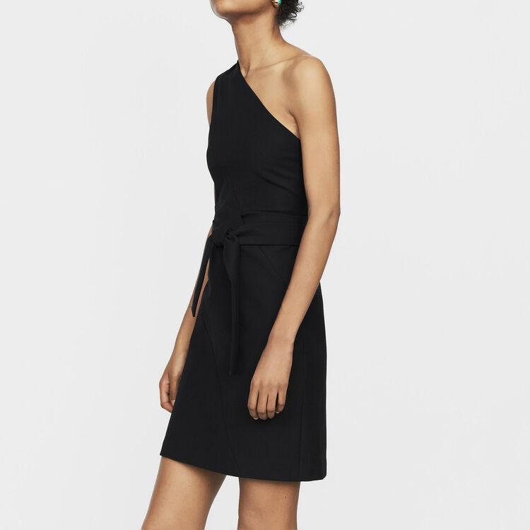 Off-the-shoulder short dress : Dresses color Black 210
