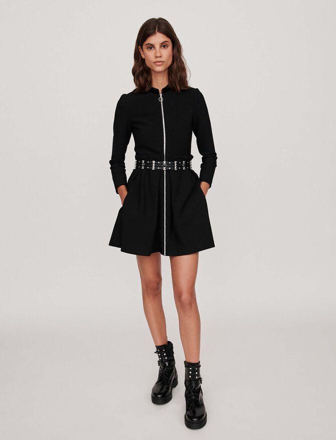 Zipped dress - The Essentials - MAJE
