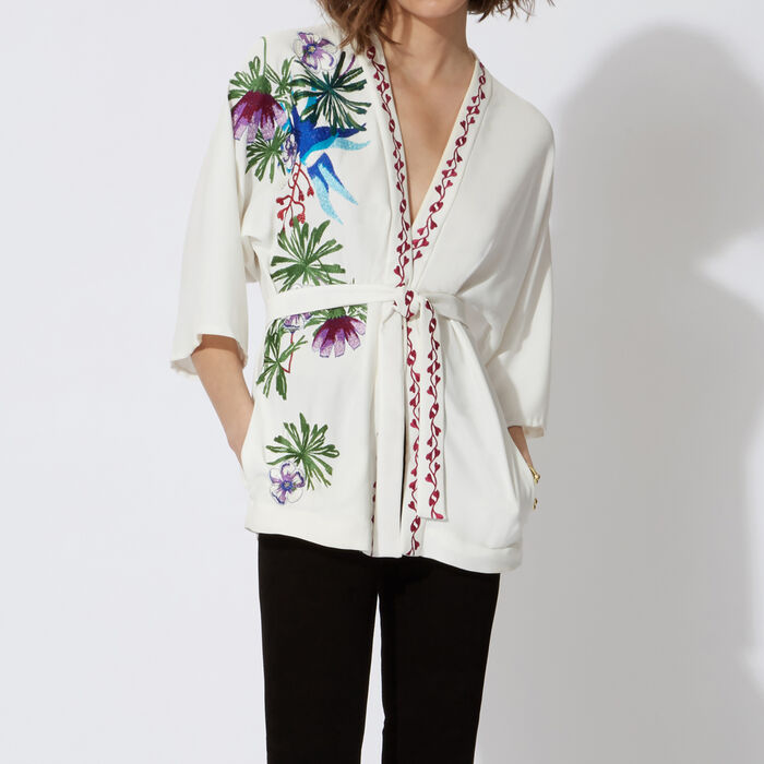 Floral-print kimono : Copy of Sale color