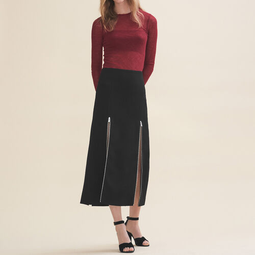 Long crepe skirt - Skirts & Shorts - MAJE