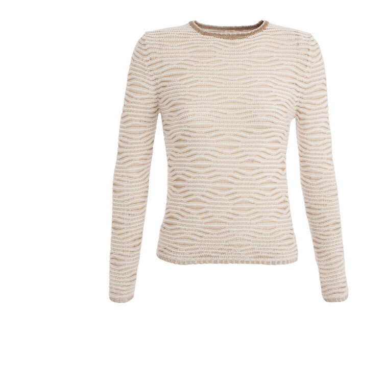Cotton and lurex jacquard jumper : null color