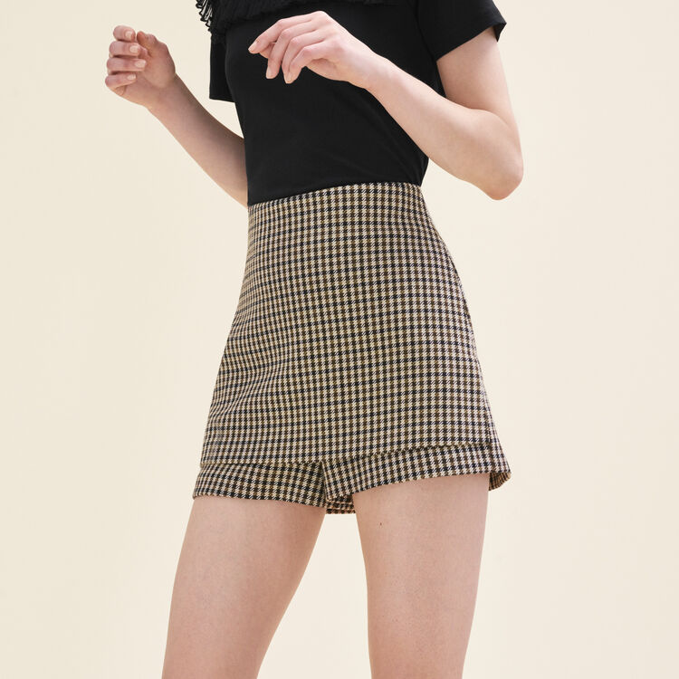 Short checked shorts : null color