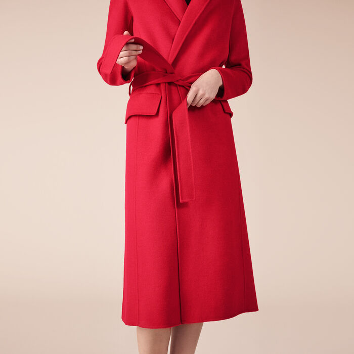 GEODE Wool-blend coat - Coats & Jackets - Maje.com