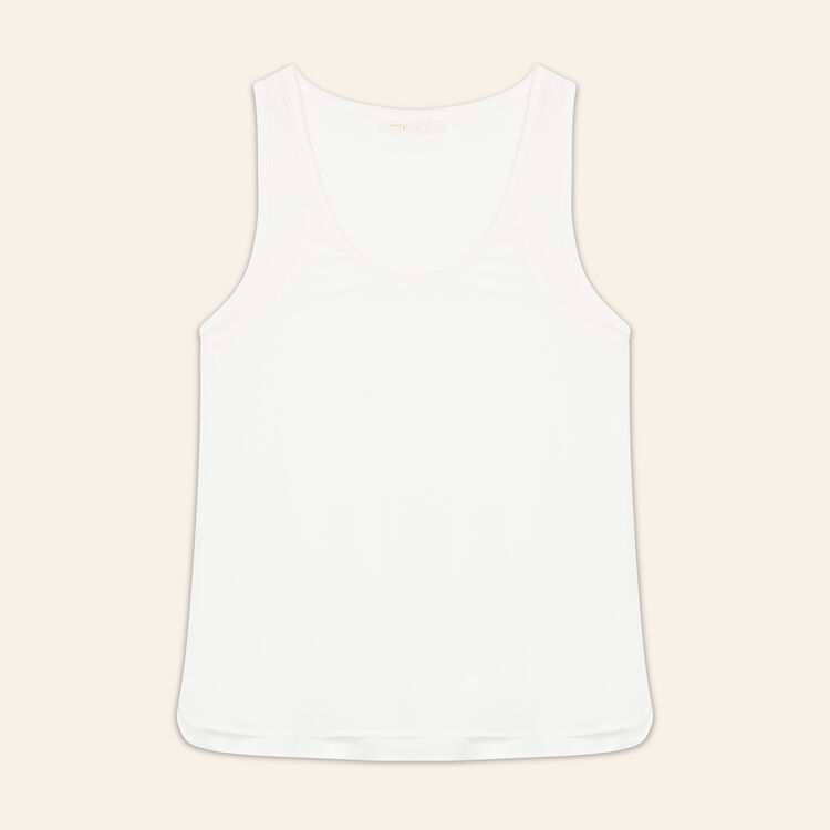 Silk tank top : Tops & Shirts color ECRU