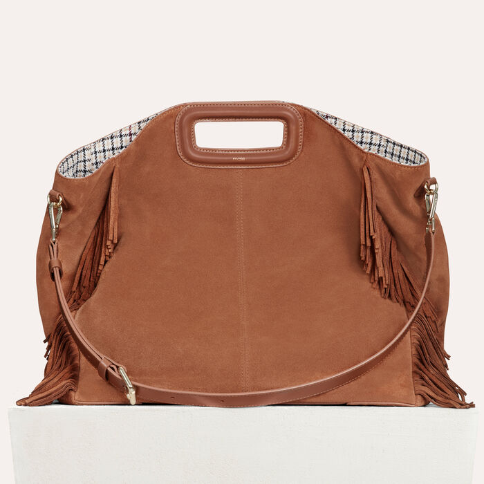 Tote With Leather Fringe Handbags Purses Color Camel