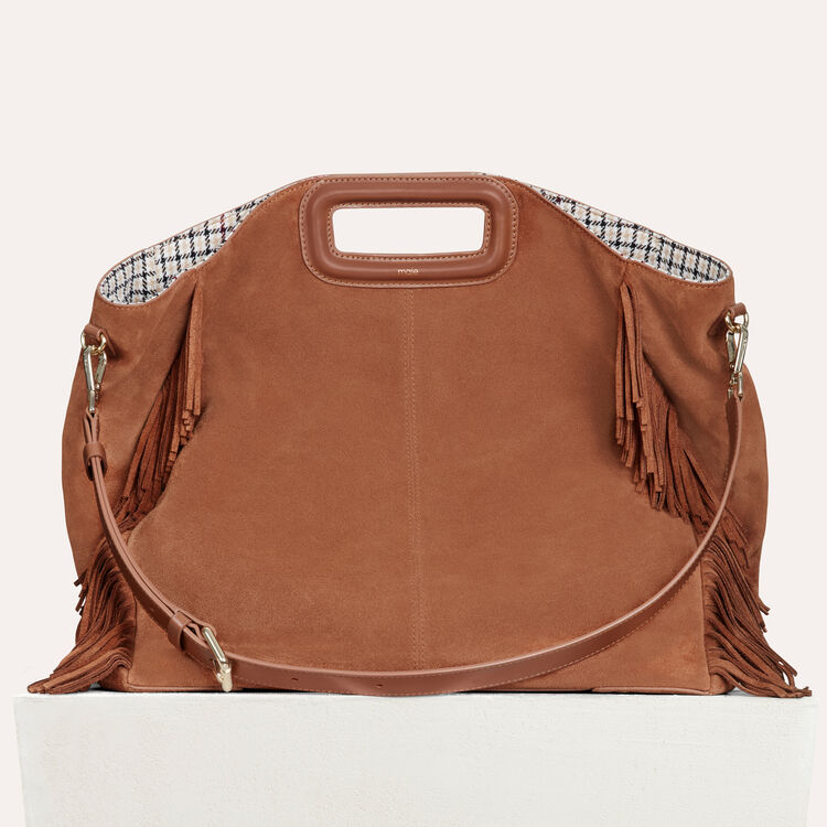 Tote with leather fringe : Handbags & Purses color Camel