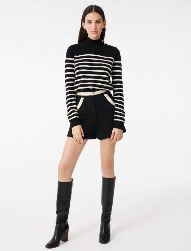 Sailor-style cashmere sweater - Sweaters - MAJE