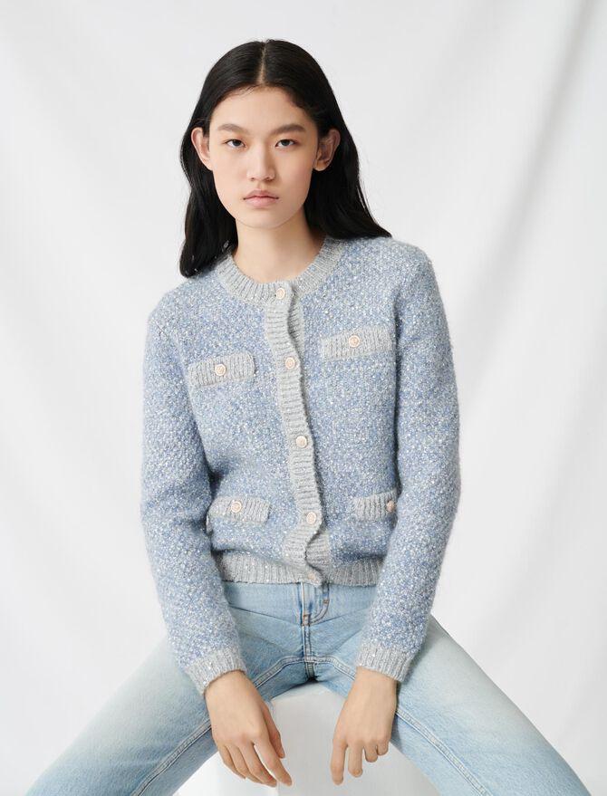 Cardigan with lurex threads - The Essentials - MAJE