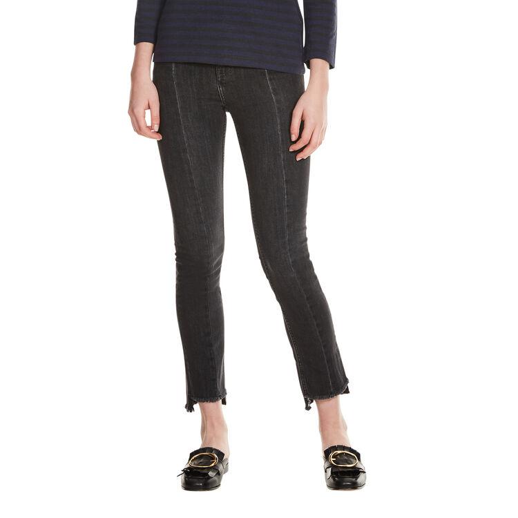Asymmetric hem jeans : Pants & Jeans color Grey