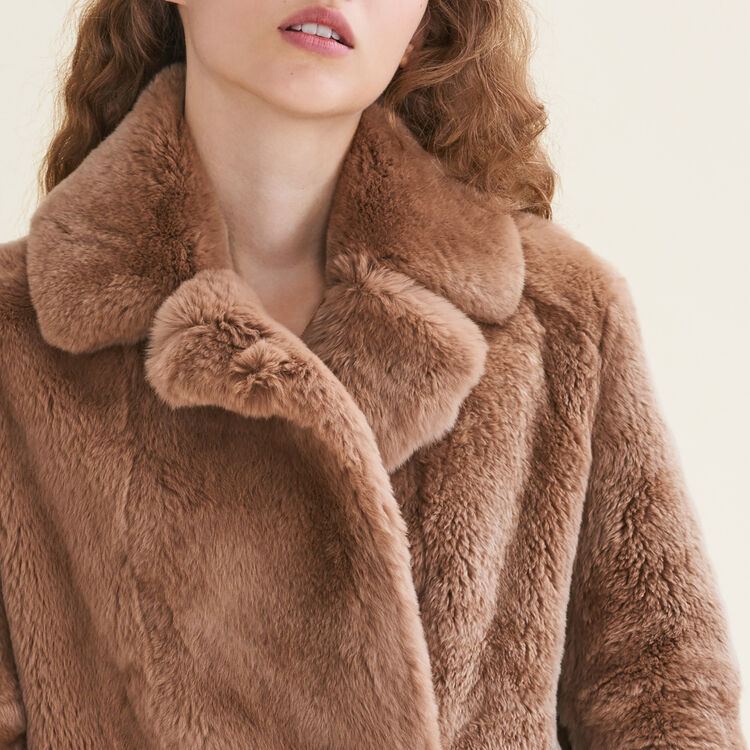 Rabbit coat : Coats & Jackets color Beige
