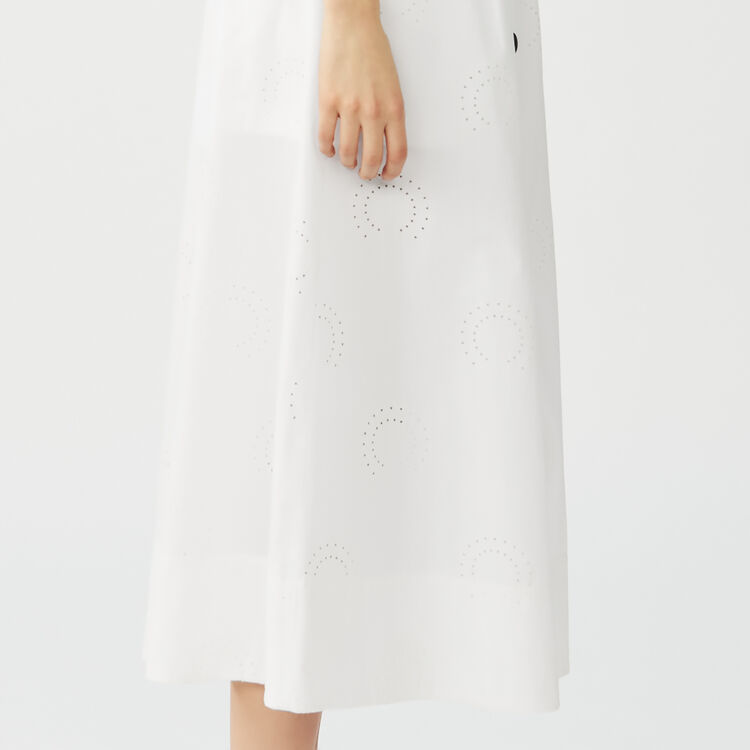 Long embroidered skirt : Skirts & Shorts color White