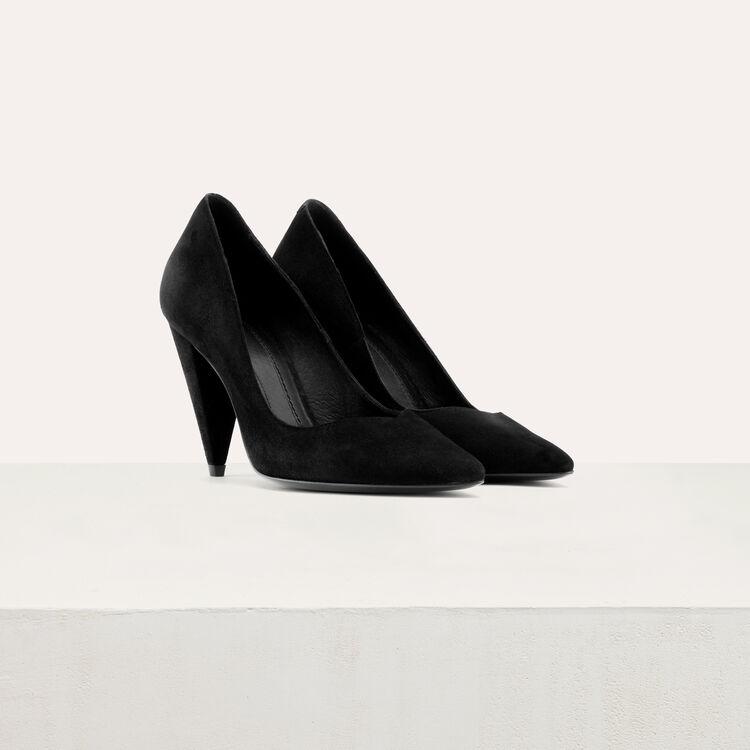 High heals suede shoes : Shoes & Accessories color Black 210