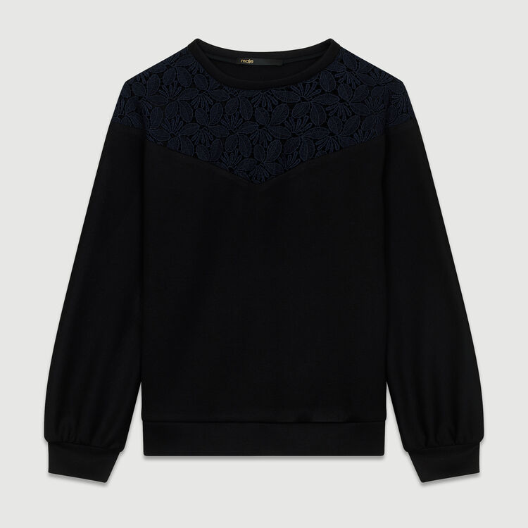 Lace sweatshirt : Tops & Shirts color