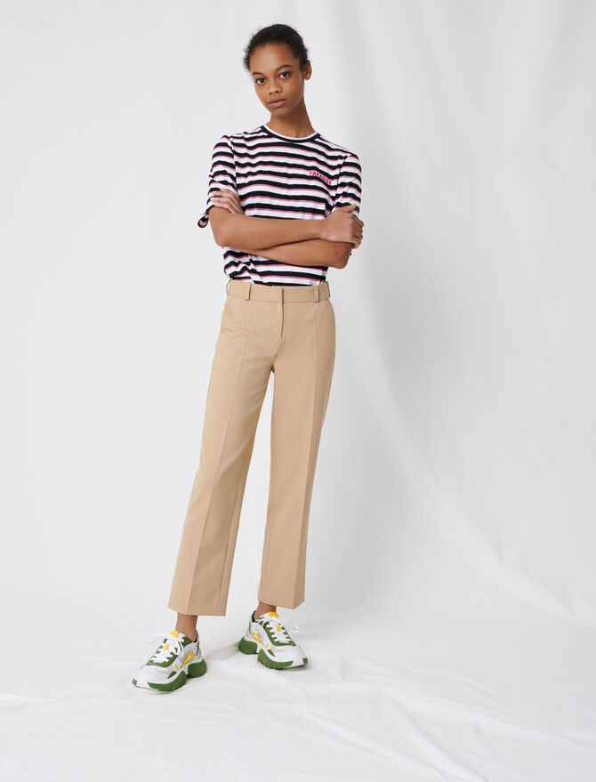 Beige tailored trousers - Pants & Jeans - MAJE