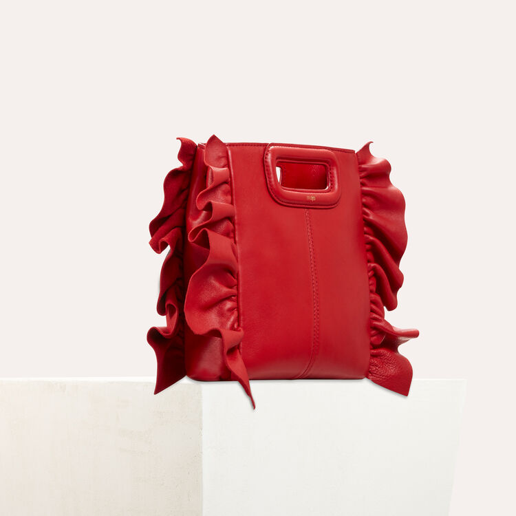 FRILLED M BAG : Shoes & Accessories color Red