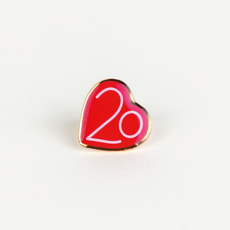 Pin Badges X 20 years : New Collection color Multico