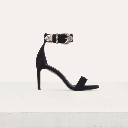 e1ece974faf Suede heeled sandals   Shoes   Accessories color Black 210
