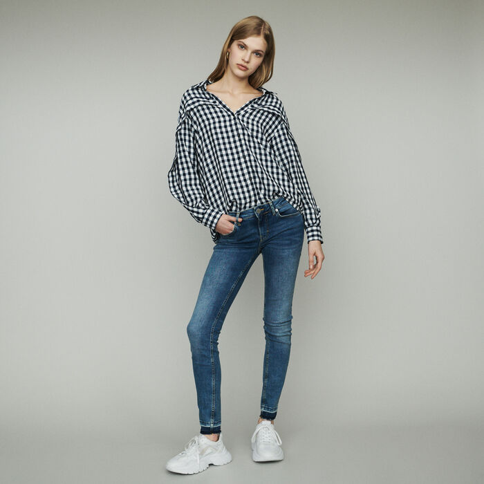 Shirt with gingham print : Tops & T-Shirts color CARREAUX