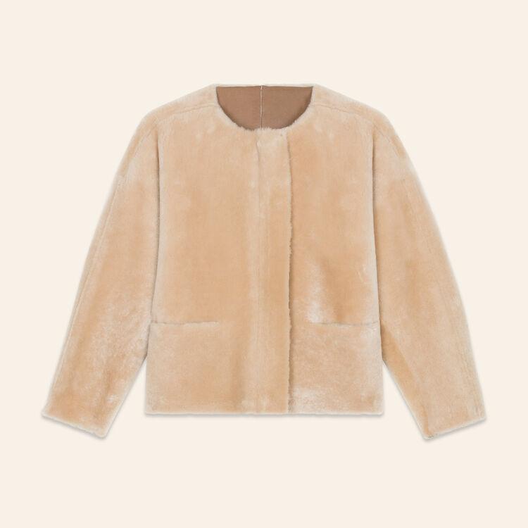 Reversible sheepskin jacket : Coats & Jackets color Beige