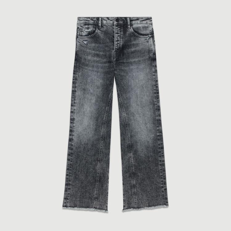 paola wide leg distressed jeans pants jeans maje com