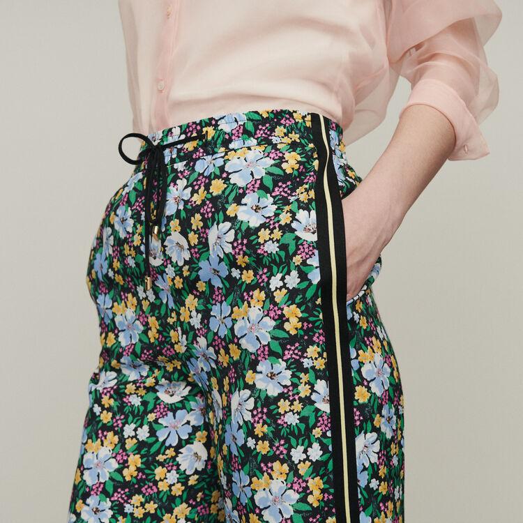 Sweatpants with floral print : Pants & Jeans color Print