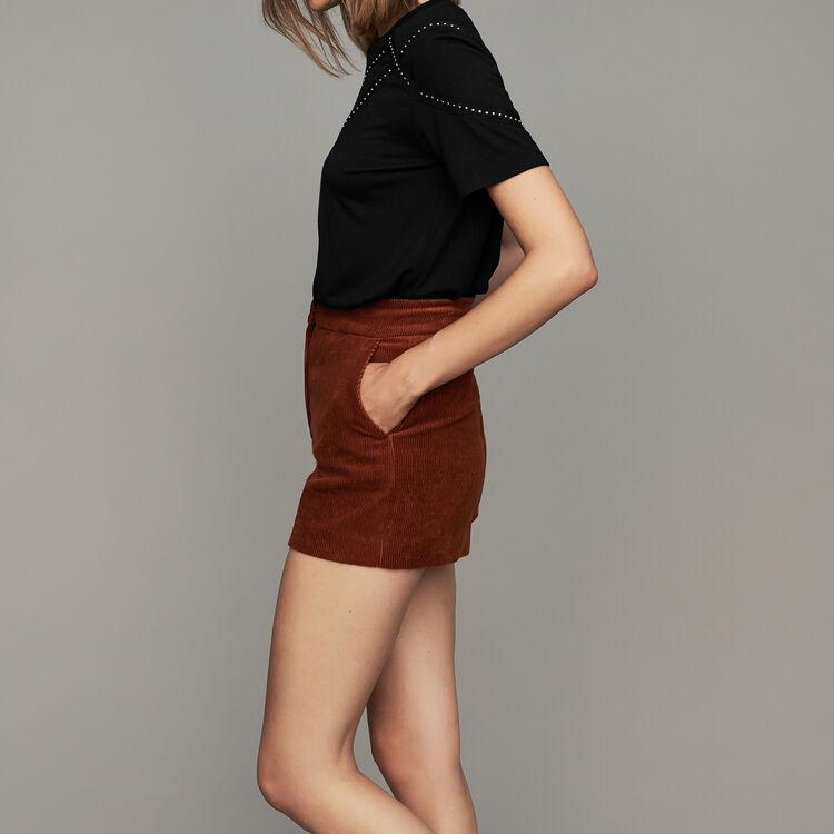 Corduroy shorts : Skirts & Shorts color Caramel