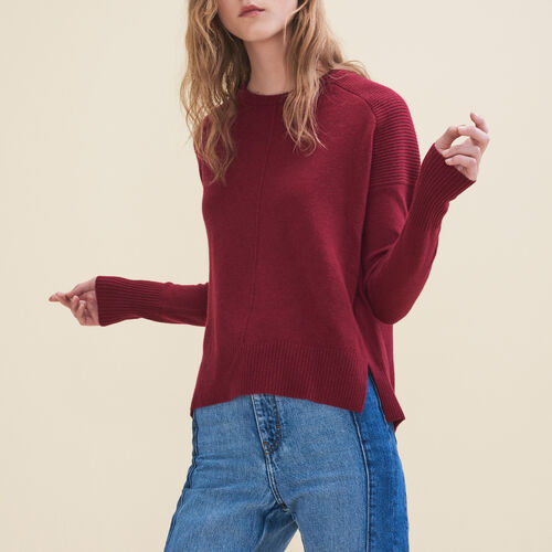 Cashmere jumper : Sweaters color Burgundy