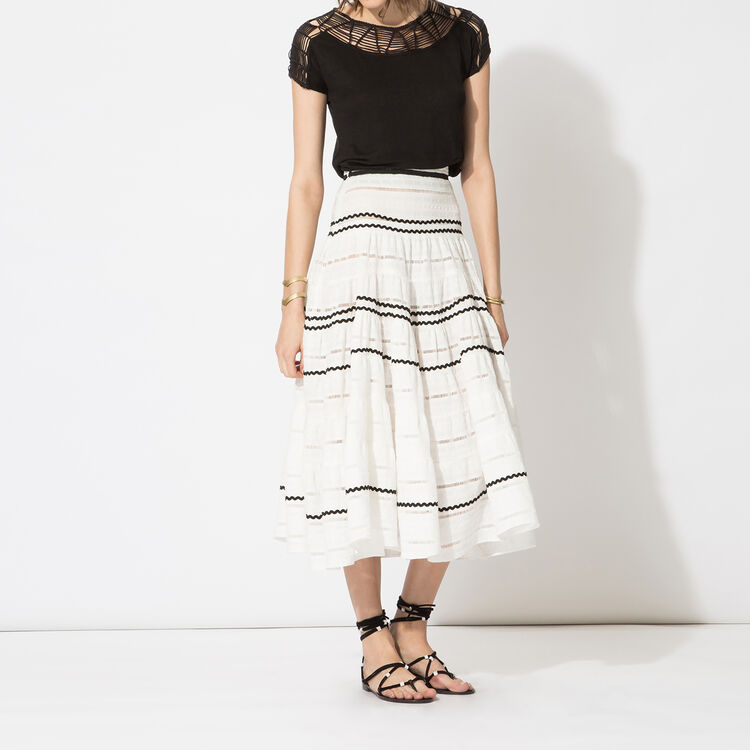 Long embroidered skirt : Copy of Sale color