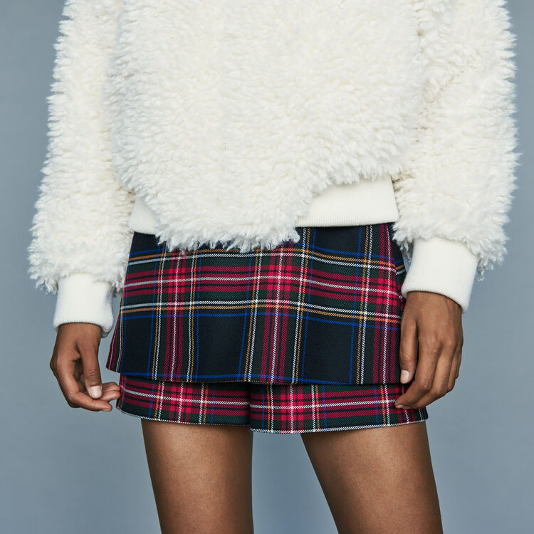 Cropped faux shearling jacket : Coats & Jackets color White