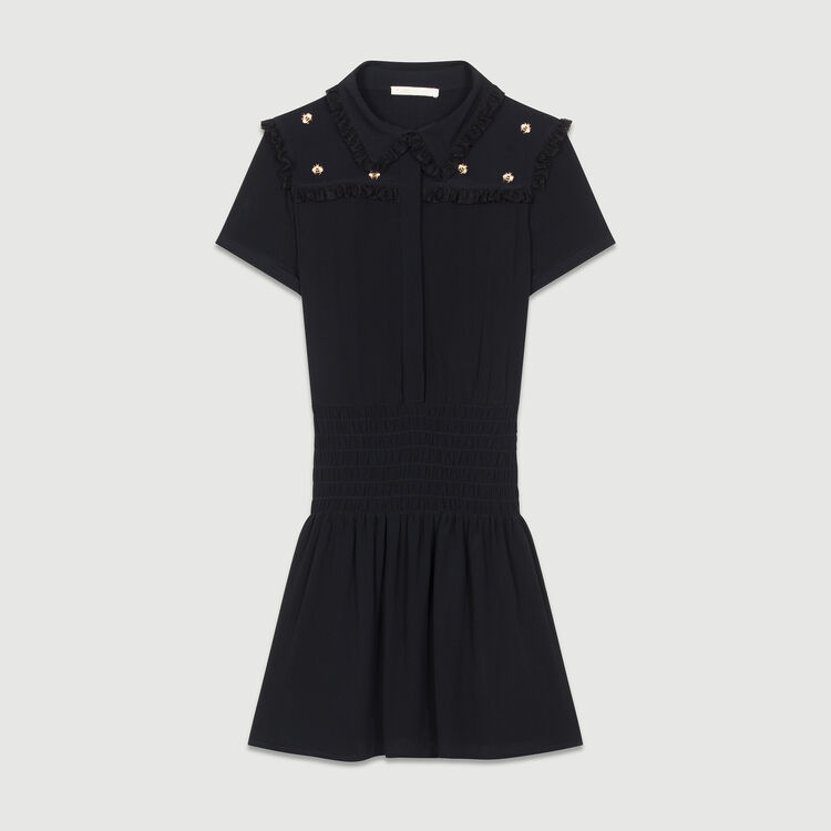 Dress embroidered bees : Dresses color Black 210