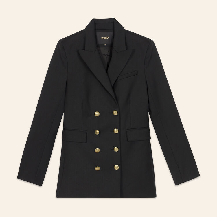 Eight-button double-breasted jacket : null color