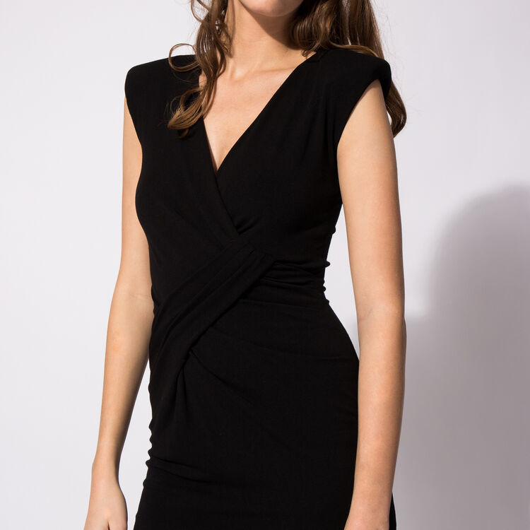 Draped jersey sleeveless dress : Copy of Sale color