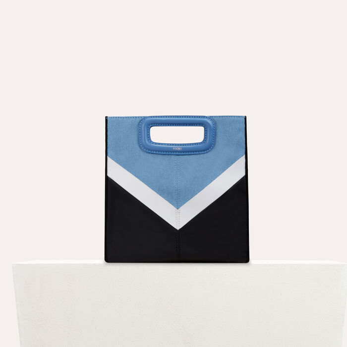 Leather and denim M bag : Pre-collection color Multico