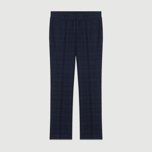 7/8 plaid pants : Pants & Jeans color Navy