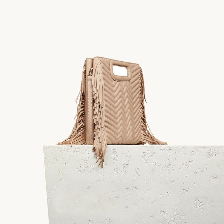 Quilted leather M bag - M - MAJE