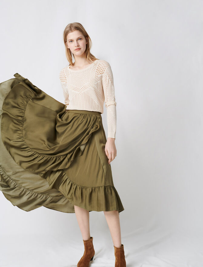 Ruffled boho skirt - Fresh Florals - MAJE