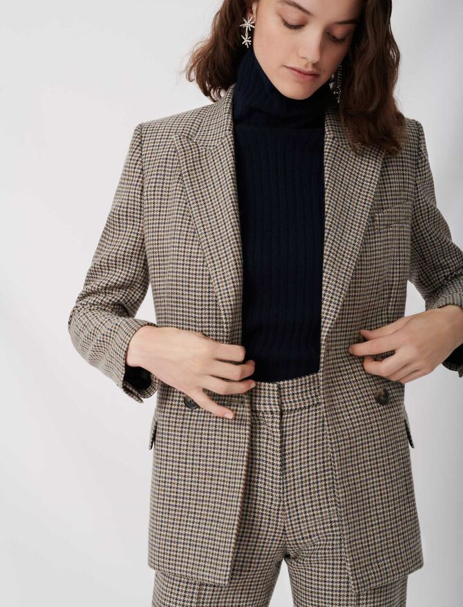 Checked suit jacket - Sustainable Selection - MAJE