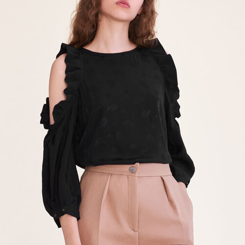 Flowing top open at the shoulders : Tops & T-Shirts color Ecru