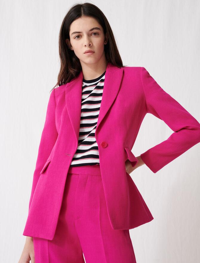 Fuchsia tailored jacket - Coats & Jackets - MAJE