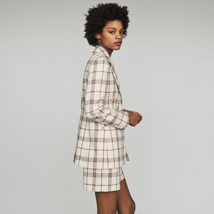 Tailor's jacket with checks  : Coats & Jackets color CARREAUX