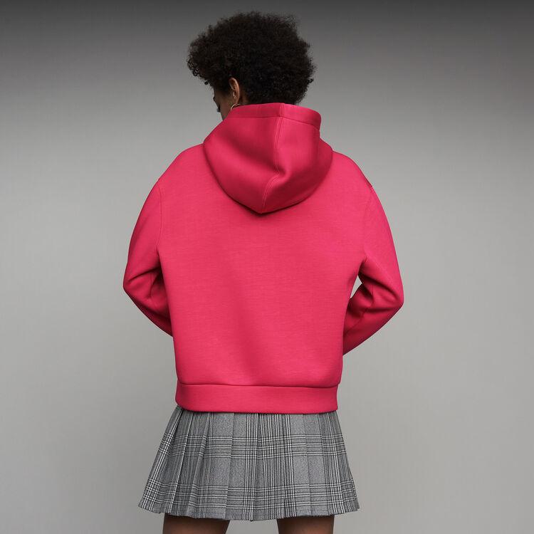 Oversize hooded sweatshirt : Sweaters color Fuschia