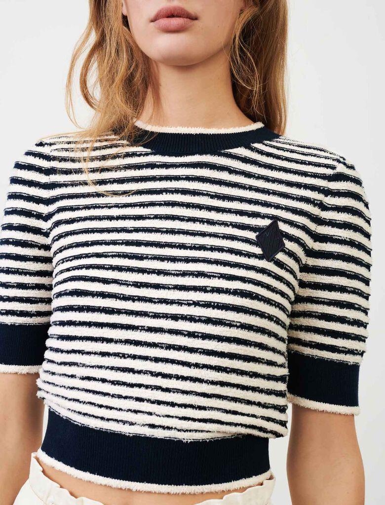 Sailor sweater : Sweaters color Navy / Ecru