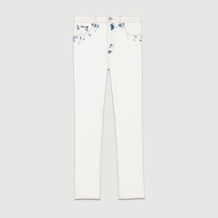 Straight-leg pants with contrast details : Pants & Jeans color White