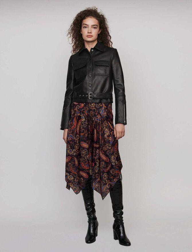 Buttoned leather jacket - Coats & Jackets - MAJE