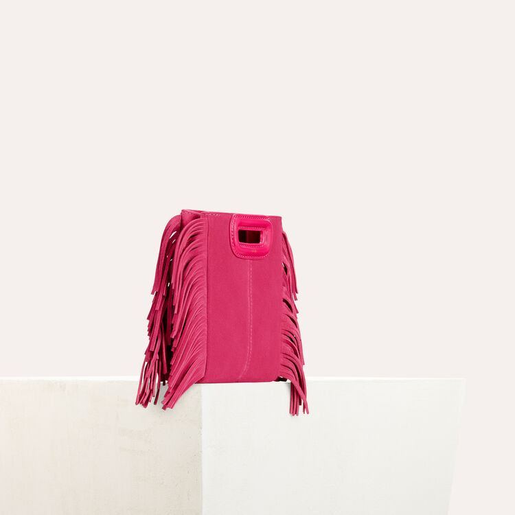Fringed suede M minibag : Shoes & Accessories color Pink