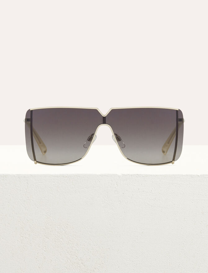 """Mask"" sunglasses in metal - Sunglasses - MAJE"