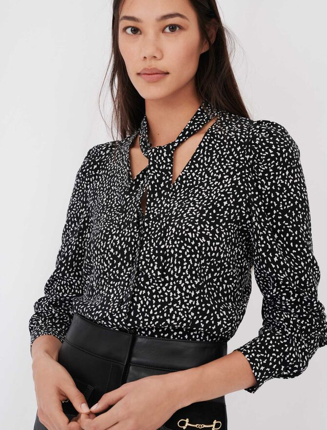 Crafted from crêpe printed shirt - Tops & T-Shirts - MAJE